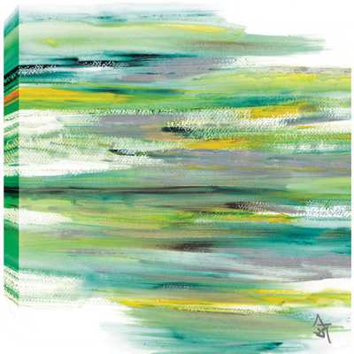 """Images 2000 """"Green View Abstract"""" by Sanjay Patel Printed Canvas Wall Art - Home Depot"""