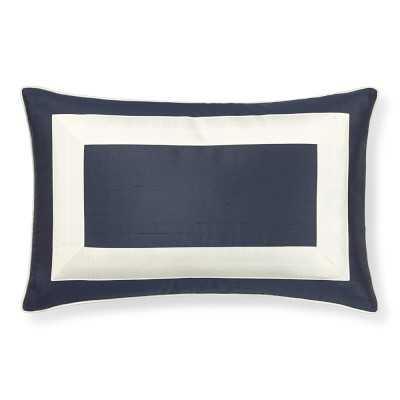 Silk Border Pillow Cover, Indigo - Williams Sonoma