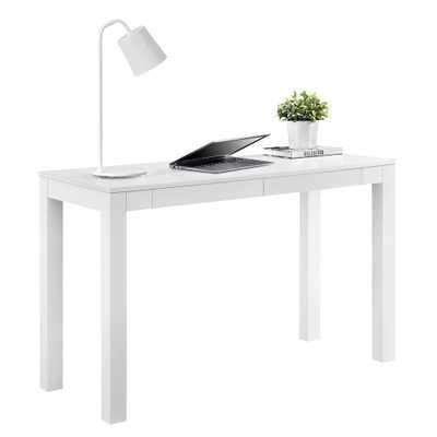 Nelson XL White Desk, White Finish - Home Depot
