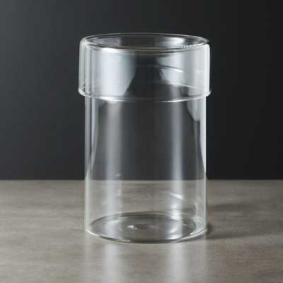 Dawson Large Round Glass Canister - CB2