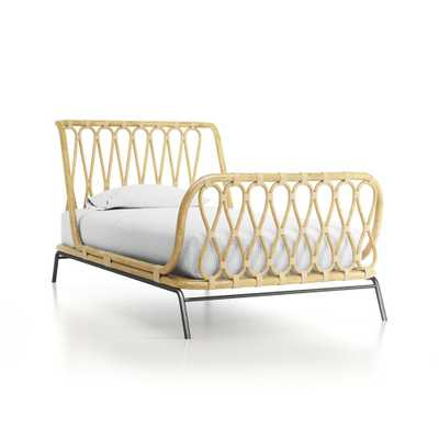 Rattan Kids Twin Bed - Crate and Barrel