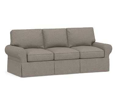 PB Basic Sleeper Sofa Slipcover, Performance Chateau Basketweave Light Gray - Pottery Barn