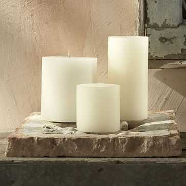 """Unscented Pillar Candle, 4""""x4.5"""", Ivory - West Elm"""
