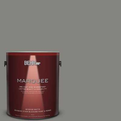 BEHR MARQUEE 1 gal. #PPU24-07 Barnwood Gray Matte Interior Paint, Grays - Home Depot