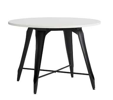 Aaron Metal Play Table, Simply White w-Black Legs - Pottery Barn Kids