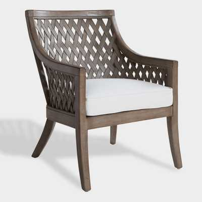 Graywashed Wood and Rattan Starla Chair by World Market - World Market/Cost Plus