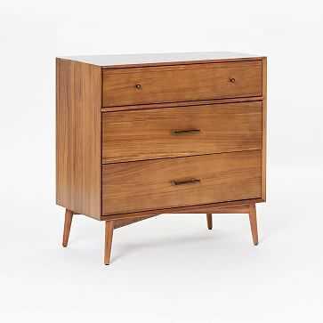 Mid-Century 3-Drawer Dresser, Acorn - West Elm