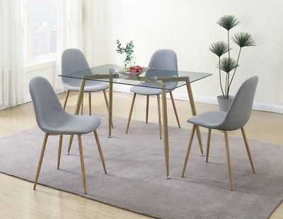 George Oliver Wylie Upholstered Dining Chair Set of 4: Gray - eBay