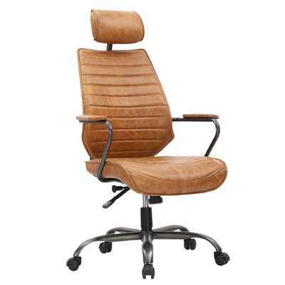 Sutton Executive Office Chair Cognac - Wayfair