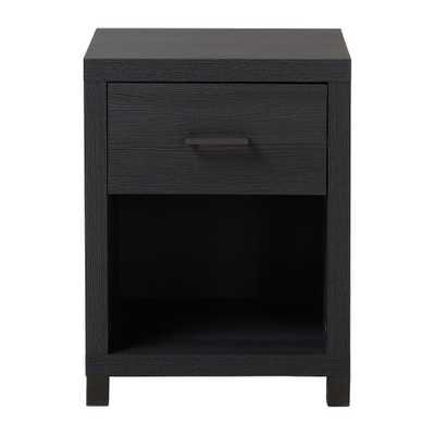 Thornton 1-Drawer Onyx (Black) Nightstand - Home Depot