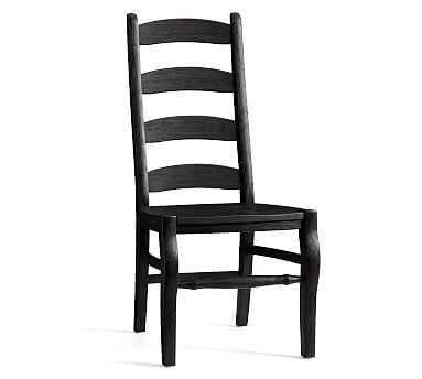 Wynn Ladderback Side Chair, Blackened Oak - Pottery Barn