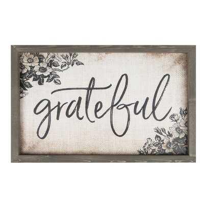 Grateful Frame Wall Décor - Birch Lane