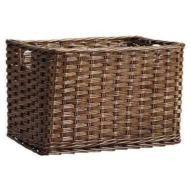 Woven Wicker Baskets, Java, Single, Large - Pottery Barn Teen