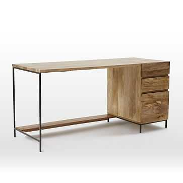 Industrial Storage Modular Desk, Set 1: Desk + Box File - West Elm