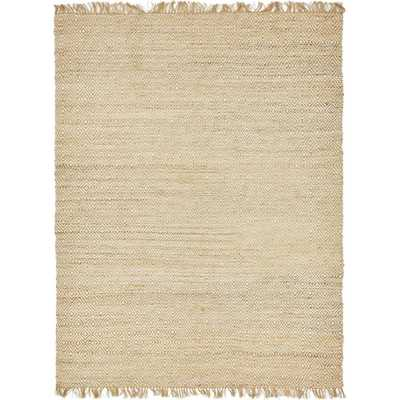 Braided Jute Natural 9' x 12' Rug, Ivory - Home Depot
