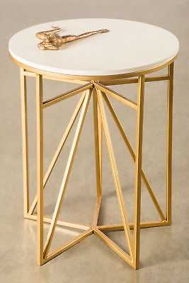 Statements by J Athena End Table: White / Gold - eBay