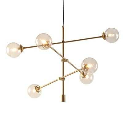 Bailey 6-Light Sputnik Modern Linear Chandelier - AllModern