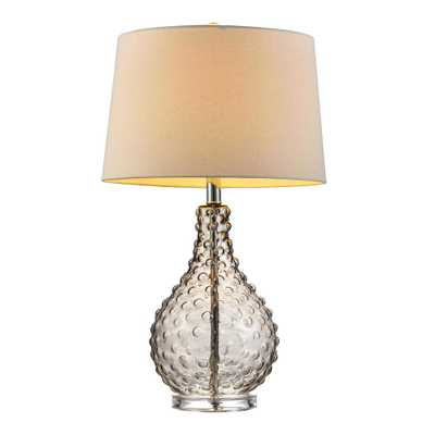 Ore International 27 in. Castlerock Glass Table Lamp - Home Depot