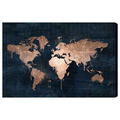 Mapamundi Copper Painting Print on Wrapped Canvas - Wayfair