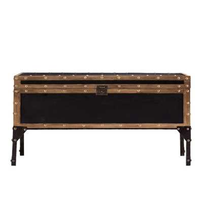 Irving Antique Black Coffee Table, Antique Black Finish With Dark Antique Bronze Accents - Home Depot