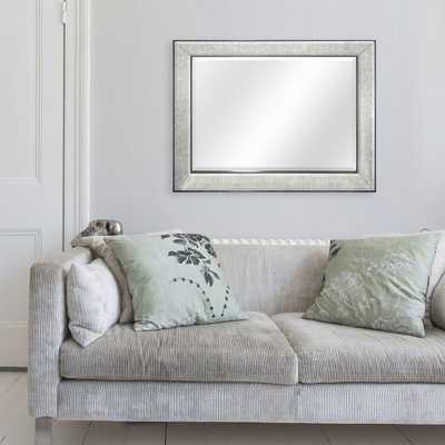 Brighton 40 in. H x 30 in. W Framed Mirror in Pewter - Home Depot