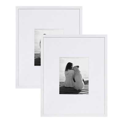 DesignOvation Gallery 16x20 matted to 8x10 White Picture Frame Set of 2 - Home Depot