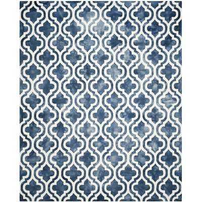 Bettina Geometric Handmade Wool Navy Area Rug - AllModern