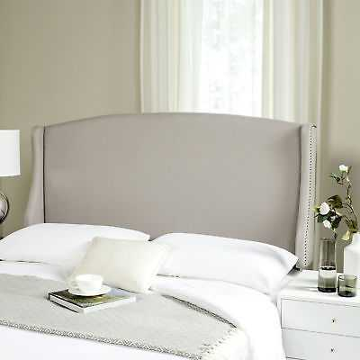 Alcott Hill Hattiesburg Upholstered Wingback Headboard: Linen Taupe - Queen - eBay