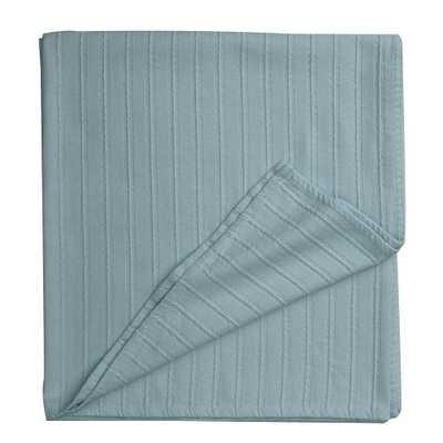 Legends Blue Haze Egyptian Cotton King Blanket - Home Depot