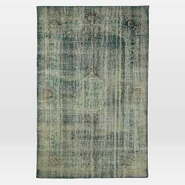 Caspian Rug, Overdyed Green, 8'x10' - West Elm