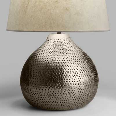 Pewter Prema Punched Metal Table Lamp Base by World Market - World Market/Cost Plus