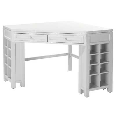 Picket Fence Corner Craft Table, White - Home Depot
