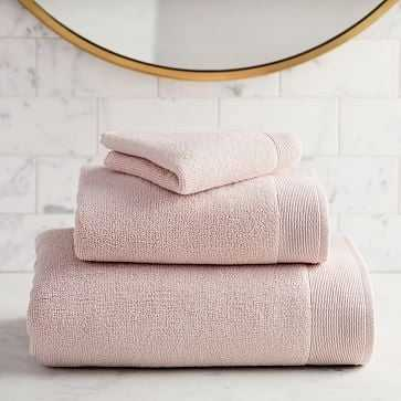Organic Luxe Fibrosoft Towel, Set of 6, Pink Blush - West Elm