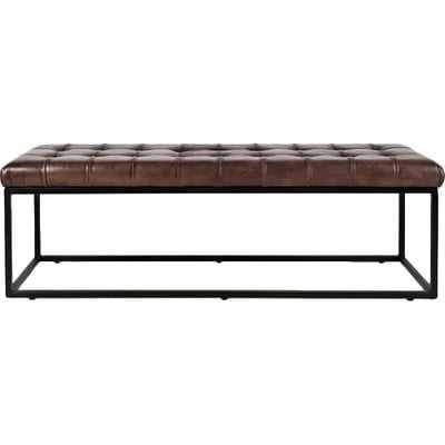 Carroll Genuine Leather Bench - AllModern