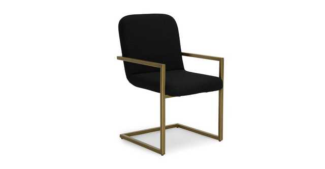Alchemy Pure Black Dining Armchair - Article