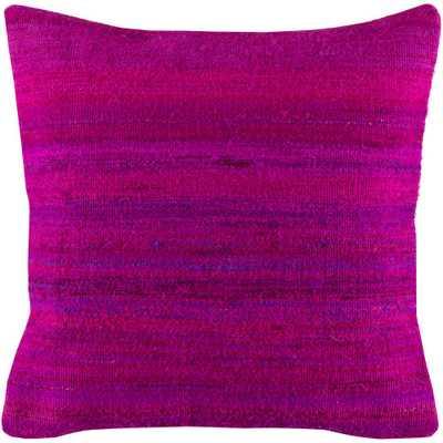 Manisha Poly Euro Pillow, Fuschia - Home Depot