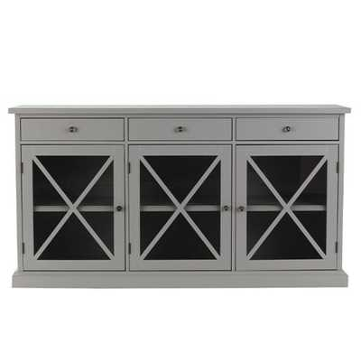 Hampton Grey Buffet - Home Depot