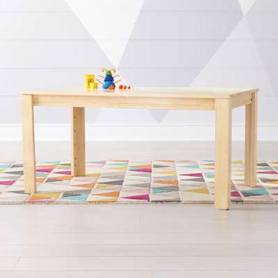 """Large Natural Adjustable Kids Table w/ 23"""" Legs - Crate and Barrel"""