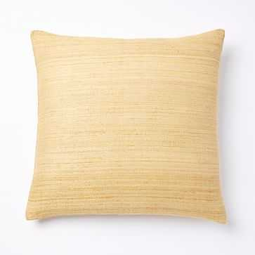 "Woven Silk Pillow Cover, 20""x20"", Horseradish - West Elm"