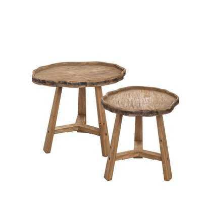 Marnisha Live Edge 2 Piece Nesting Tables - Wayfair