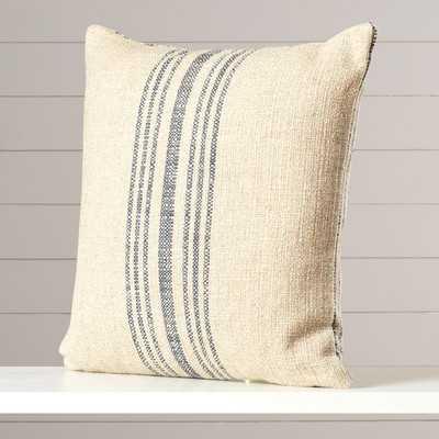 "Stripe Annapolis Blue Throw Pillow-18"" - Polyester/Polyfill Insert - Wayfair"