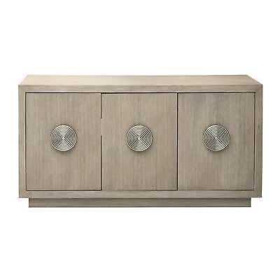 Mid-Century Modern Hard Wood Light Oak 3 Door Server Sideboard Credenza, Brown - eBay