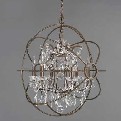 Yosemite Home Decor Groveland Collection 6-Light Rustic Chandelier - Home Depot