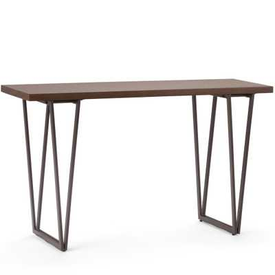 Ryder Natural Aged Brown Console Sofa Table - Home Depot
