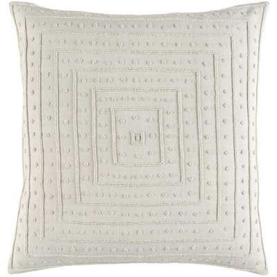 Athelstane Ivory Solid Polyester 22 in. x 22 in. Throw Pillow - Home Depot