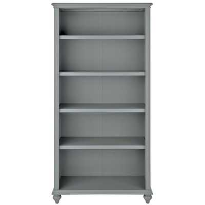 Hamilton 5-Shelf Grey Open Bookcase - Home Depot