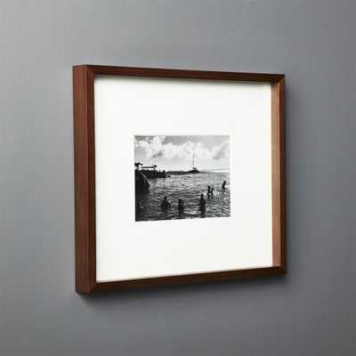 Gallery Walnut Frame with White Mat 5x7 - CB2