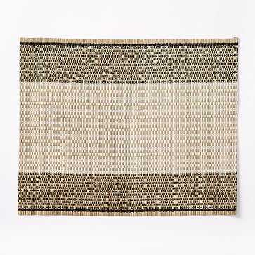 Crossweave Placemats, Black/White, Set of 2 - West Elm