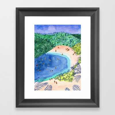 "French Paradise Framed Art Print - Scoop Black Mini 10"" x 12"" by Helobirdie - Society6"