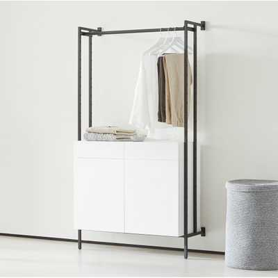 Flex Modular Closed Storage Cabinet with Clothing Bar - Crate and Barrel